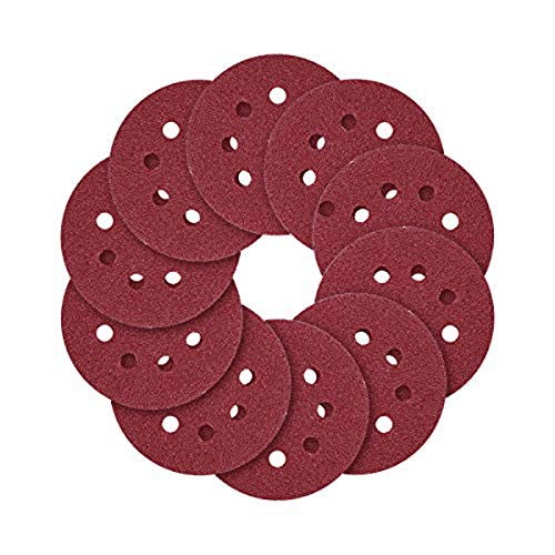 5-Inch 8-Hole Hook and Loop Sanding Discs 70PCS, 40/80/120/240/320/600/800 Assorted Grits Sandpaper - Pack of 70