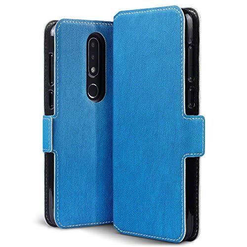 TERRAPIN, Kompatibel mit Nokia 6.1 Plus Hülle, Leder Tasche Hülle Hülle im Bookstyle mit Standfunktion Kartenfächer - Hellblau