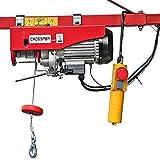 CROSSFER PA400A Elektrischer Seilhebezug 230Volt für 200kg/400kg Last Seilwinde mit Umlenkrolle als Flaschenzug Seilzug 12 Meter Hubhöhe Hebezug Lastkran