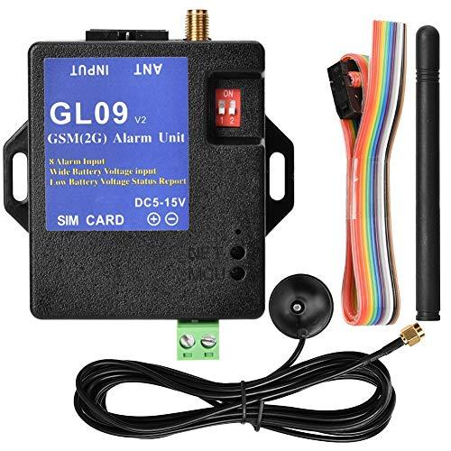 Zyyini GSM-alarmsysteem, professioneel, op batterijen werkende 8-kanaals app-controle-sms-alarm-veiligheidssysteem voor huis en magazijn