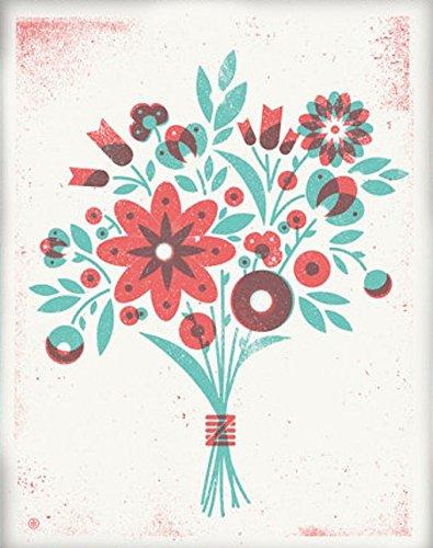 アメリカ ブルックリン発 TWO ARMS (トゥーアームズ) おしゃれ インテリア アートプリントポスター シルクスクリーン Mサイズ Over Print Flowers オーバープリントフラワーズ MP-OPFL57