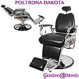 sillón barbero con Respaldo reclinable y Reposacabezas ajustable Profesional