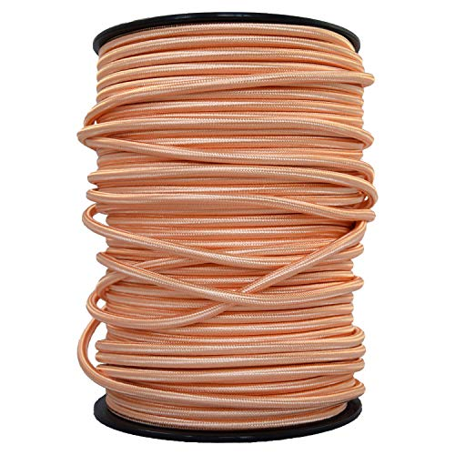 smartect Cavo elettrico Tessuto - Rame - 2 Metro cavo tessile intessuto - Tripolare (3 x 0.75mm²) - Cavo elettrico rivestito per Fai da Te
