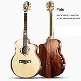 Guitarra acústica 42 pulgadas GJ tamaño Mano artesanal guitarra de madera sólida, guitarra de madera sólida completa