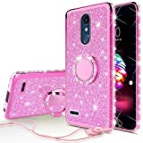 Wydan Case for LG Stylo 5 Phone Case - Glitter Slim Hybrid Shockproof TPU Protective Ring Stand Phone Cover
