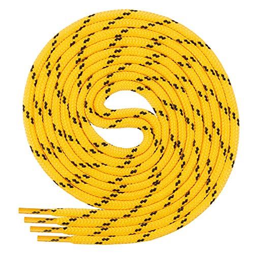 Di Ficchiano runde SCHNÜRSENKEL für Arbeitsschuhe und Trekkingschuhe - sehr reißfest - ø ca. 4,5 mm, Polyester - SP-01-yellow/black-140