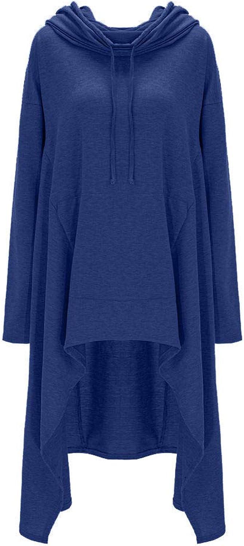 FidgetGear Women Winter Hoodie Dress Long Hooded Tops Casual Sweatshirt Sweater