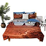 DRAGON VINES Winter Bed Sheets Western Decor Pocket Full of Sheets American Desert Arizona Canyon Monuments Valley National Park Wild West W79 xL90