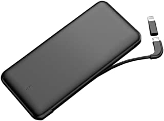 High quality power bank Power Bank 10000mAh Portable Phone Charger General purpose Wireless mobile power Compatible for iPhone iPad Samsung Android Tablet (Color : Black)