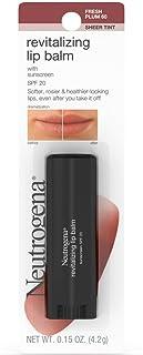 Neutrogena Revitalizing Lip Balm SPF 20, Fresh Plum [60], 0.15 oz ( Pack of 2)