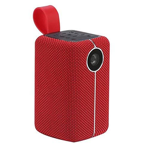 Portátil de pequeño Inicio proyector 3D, Inteligente AI Voz Distancia Proyector, resolución apoya 1080P, el Brillo es de 420 lúmenes, adecuados for el Aire Libre, Entretenimiento, Ocio ZHNGHENG