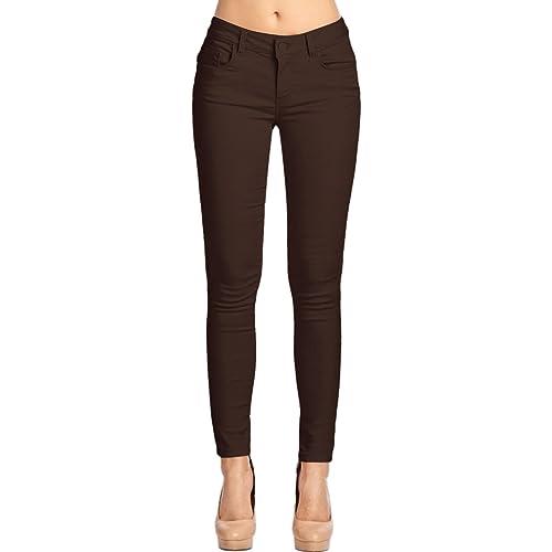 0f05959766ab8 2LUV Women's Trendy Skinny 5 Pocket Stretch Uniform Pants