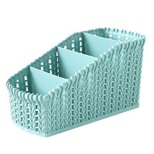 Scrox 1 Pcs Cosmétique finition de la boîte de rangement boîte de rangement de bureau magasin de jouets Les pinceaux stockage de liquide nettoyant (bleu)