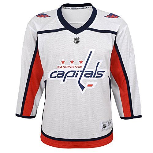 Outerstuff Youth NHL Replica Jersey-Away Washington Capitals, White, Youth One Size