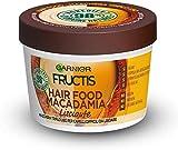 Garnier Maschera Lisciante Fructis Hair Food, Maschera disciplinante 3in1 con formula vegana per capelli difficili da lisciare, Macadamia, 390 ml