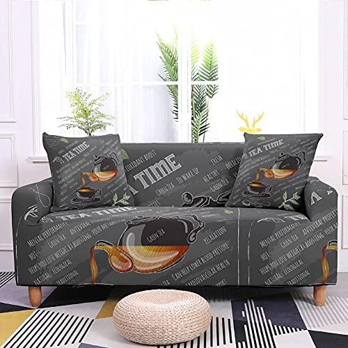 WXQY Funda de sofá elástica con Estampado de Mariposas y Flores, Funda de sofá Todo Incluido Antideslizante para Sala de Estar A3 1 plazas