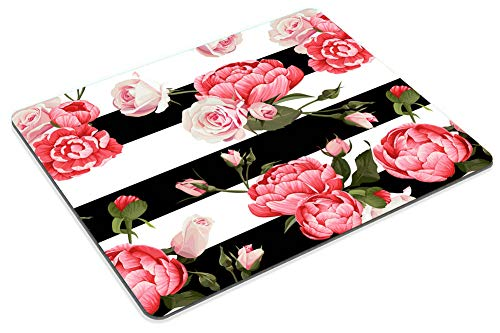 Smooffly Gaming Mouse Pad Custom,Peony and Roses Customized Rectangle Non-Slip Rubber Mousepad 9.5 X 7.9 Inch (240mmX200mmX3mm) Photo #5
