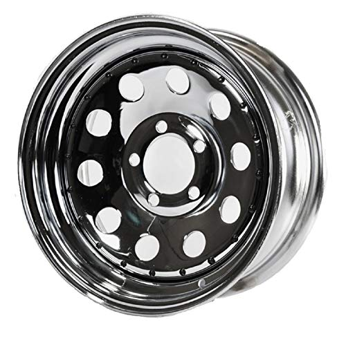 Trailer Rim Wheel 14 in. 14X6 5 Lug Hole Bolt Wheel Mod Chrome Modular W/Rivets
