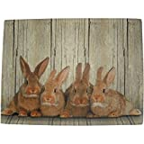 waschbare Fußmatte Hasen - Kaninchen Familie - Küchenmatte Türmatte