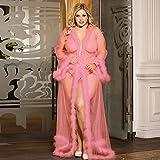GREQ Conjuntos de lencería para Mujer Pijamas lencería Sexy Gorda Sexy Traje de tentación de Gran tamaño Bata Transparente