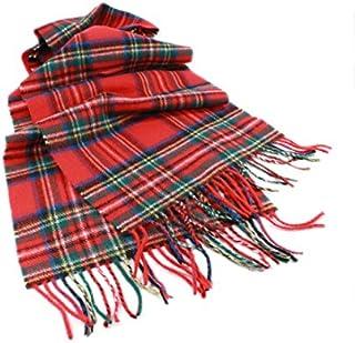 """Biddy Murphy Plaid Scarf Wool Unisex 63"""" x 12"""" Made in Ireland"""