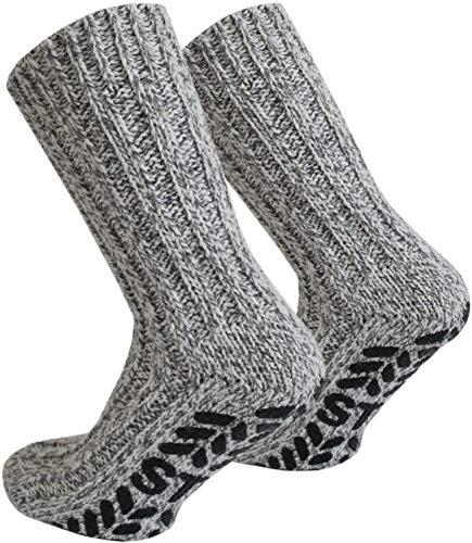 normani 2 Paar Antirutsch Norweger Socken mit ABS Sohle Farbe Mehrfarbig Größe 35/38