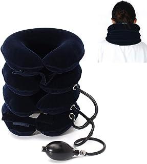 4層ネックストレッチャー、MUIIGOOD頚部牽引装置、痛み緩和のためのネック姿勢慢性頸部&肩アライメント痛み、首疲労と頚部の痛みを軽減 ストレッチ,ソフトウォッシャブルネルカバー