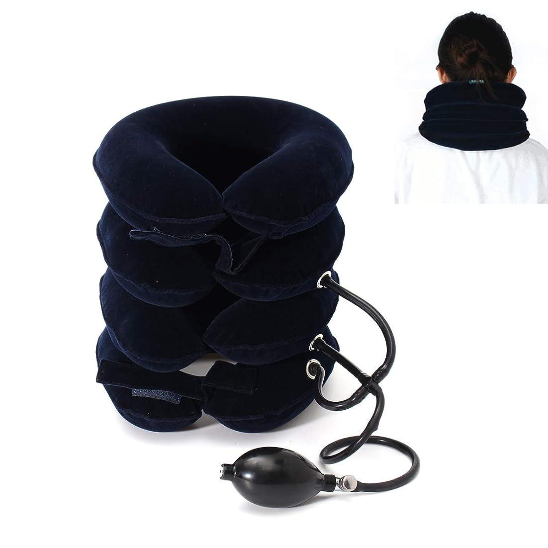 立法差し控える取り囲む4層ネックストレッチャー、MUIIGOOD頚部牽引装置、痛み緩和のためのネック姿勢慢性頸部&肩アライメント痛み、首疲労と頚部の痛みを軽減 ストレッチ,ソフトウォッシャブルネルカバー