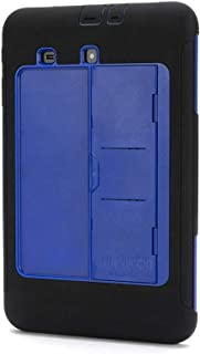 Griffin Samsung Galaxy Tab E 9.6 Rugged Case, Survivor Slim Plus Stand Black/Blue - Sleek, Layered Protection from Drops and scr
