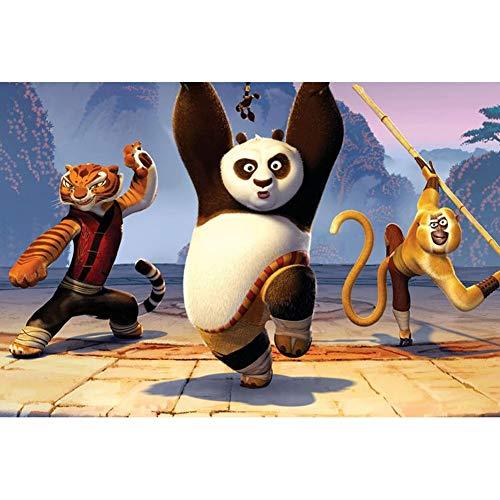 VAST Historieta del Animado Kung Fu Panda Puzzles, Rompecabezas de Tilo for la Familia del Juguete del Juego, 300/500/1000 Regalos Piezas for cumpleaños de los niños 507 ( Color : A , Size : 500pc )