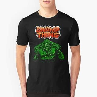 Swamp Thing (Nes) Title Screen Slim Fit TShirtT shirt Hoodie for Men, Women Unisex Full Size.