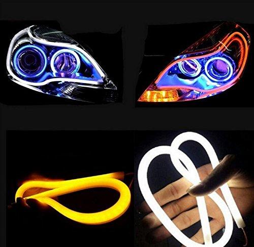Haichen 2 tubes LED blanc/ambre pour phares de voiture