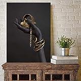 yaofale Kein Rahmen Schwarz und Gold Hand Armband