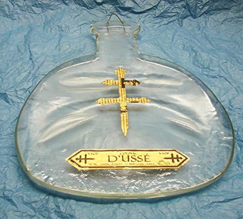Up-Cycled D'USSE' VSOP Cognac 750 mL Bottle Melted Flat for Display