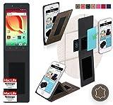 Hülle für Alcatel A50 Tasche Cover Case Bumper | Braun