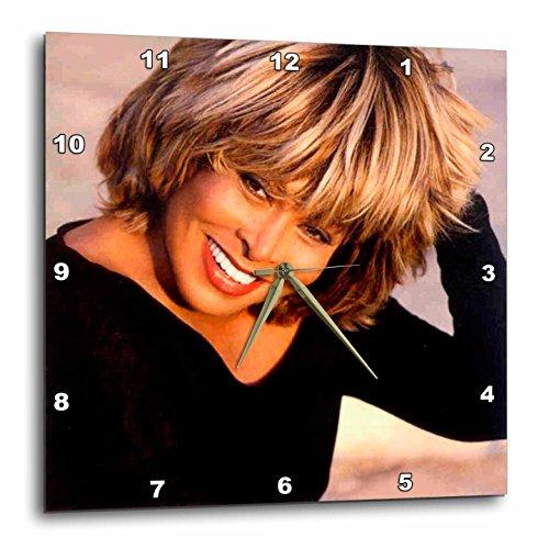 3dRose Tina Turner - Tina Turner - Relógios de parede (DPP_3900), 10x10 Wall Clock, 1