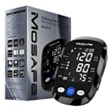 Mosafe Blood Pressure Monitor, Automatic Digital Upper Arm Machine & Accurate Adjustable Extra Large BP Cuff Kit, Voice Broadcast Backlight 3.5inch LCD Display,2x120 Memory for Home Use