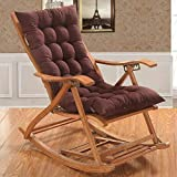 AMZ Exclusive & Premium Quality Brown Color Long Quilted Chair Pad/Chair Cushion/Cushion for Rocking Chair (Brown,38 x 18 Inches)
