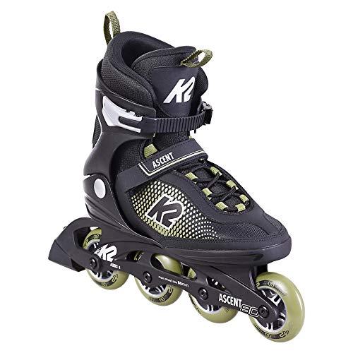K2 Skate Herren Inline Skate Ascent 80 M — Black - Olive — EU: 44 (UK: 9.5 / US: 10.5) — 30F0760