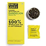 Onlyleaf Dandelion Green Tea for Digestive Aid Made with 100% Whole Leaf, 27 Pyramid Tea Bags (25...