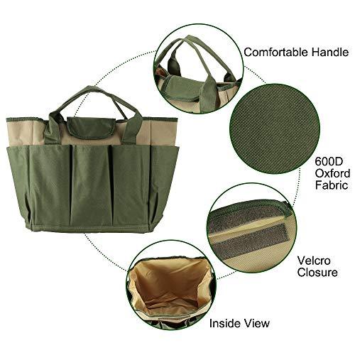 Outil de jardin Sac en tissu Oxford jardin seau Sac for le jardinage outil Kit d'outils exclus,Facile à utiliser (Color : Army green)