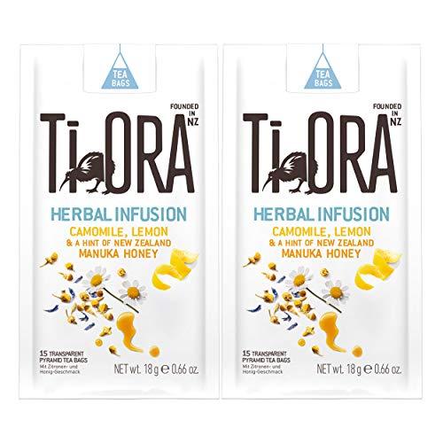Ti Ora Herbal Infusion Camomile Lemon, té de Hierbas, té de Hierbas, 30 Bolsas de té, de 1,25 g