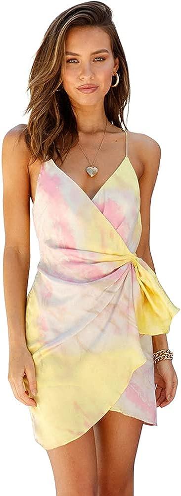 LUAN Summer Dresses for Women Beach Sling Dress Sexy Backless Dress Slip Dress