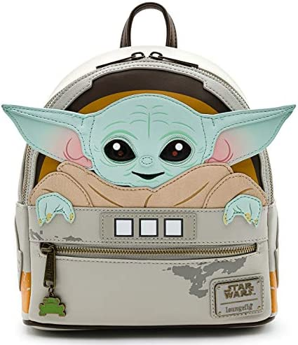 Loungefly Star Wars Baby Yoda The Mandalorian Womens Double Strap Shoulder Bag Purse product image