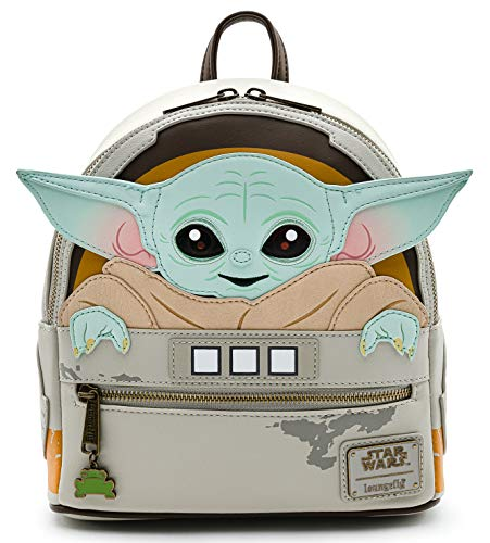 Loungefly Girls Star Wars Mandalorian Child Baby Yoda Cradle Mini Backpack Damen-Rucksackhandtasche, Mehrfarbig, Medium