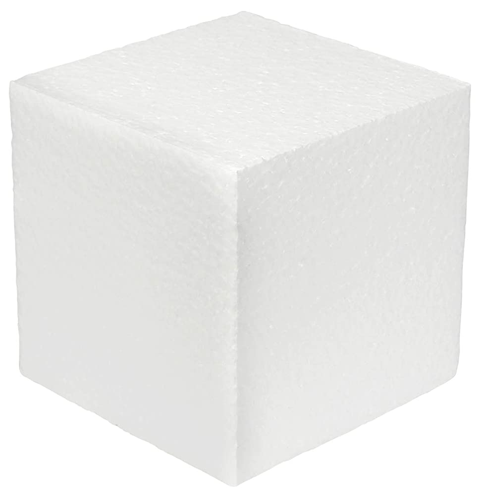 White Square EPS (Non Squishy) Hard Foam Block Cubes by MT Products (7