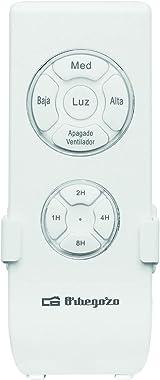 Orbegozo CP 91120–Ventilateur de plafond avec télécommande, lumière LED, 4pales, 60W, 3vitesses