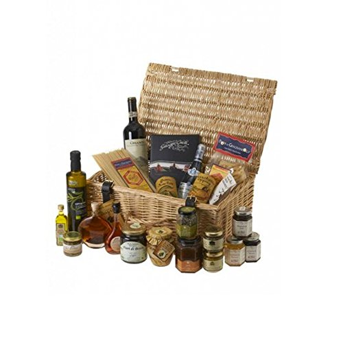 Luxury Hampers - Luxury Gourmet Hamper - Our Luxury Gourmet Hamper is a delightful wicker hamper packed 23 of our best Italian products and organic wine. a beautiful gift for every important occasion!