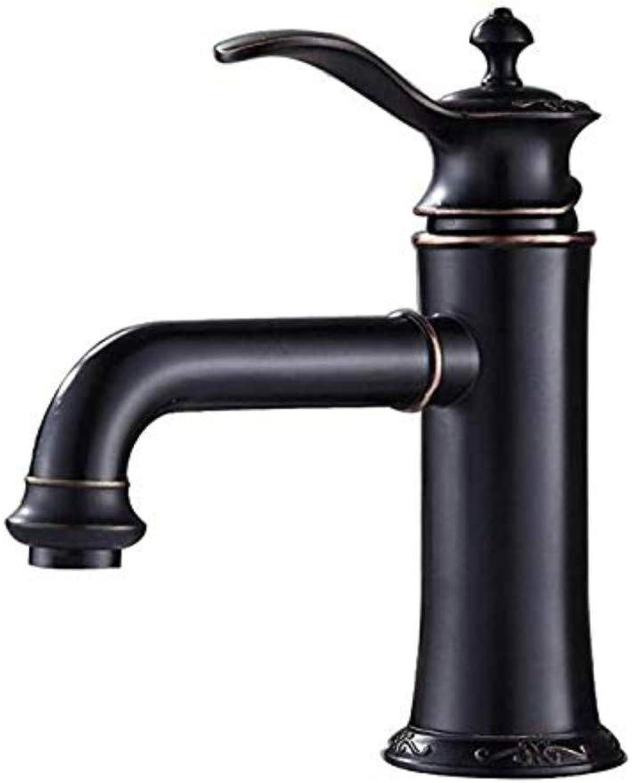 Wasserhahnbecken Wasserhahn Waschbecken Wasserhahn Retro Mischbatterie Einhand Wasserhahn Waschbecken Becken Wasserhahn Messing Mixer Gebogener Mund Schwarz
