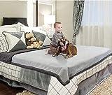 Catalonia wasserdichte Decke, Liquid Pee Proof Decke für Bett Couch Sofa, Protector Cover für Baby, gemütliche Sherpa Futter Würfe und Decken für Camping Bootfahren 203 x 229cm, Lt Grau